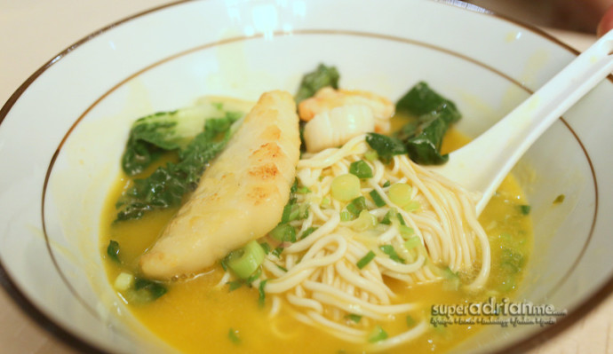 Handmade Noodles in Seafood Soup