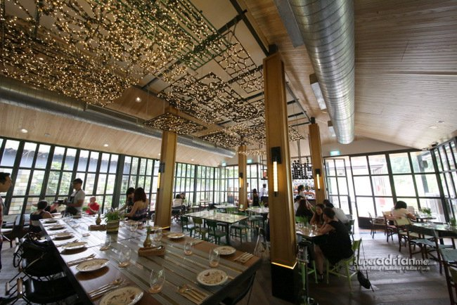 Indoor Dining area at Open Farm Community